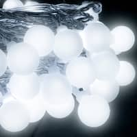 LED Concepts 100 LED Frosted White String Globe Lights