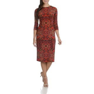 London Times Women's Scroll Print Dress