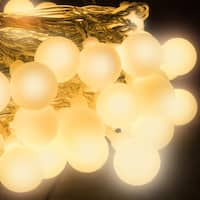 LED Concepts 100 LED Warm White String Globe Lights