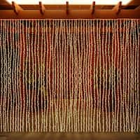 LED Concepts Curtain Warm White 300 LED String Icicle Lights
