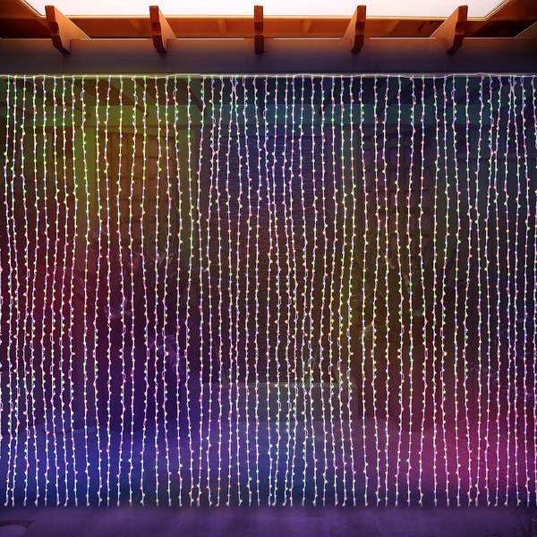 Curtain Icicle Lights String Fairy Light : LED Concepts Curtain Multicolored LED String Icicle Fairy Lights - Free Shipping On Orders Over ...
