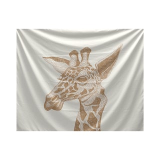 E by Design La Jirafa Animal Print Tapestry