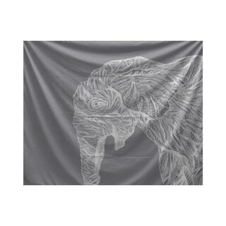 E by Design El Elephante Animal Print Tapestry