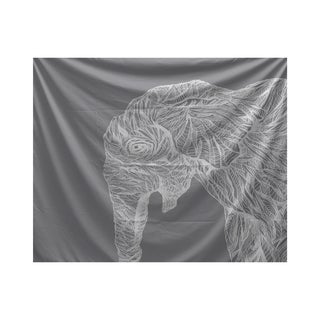 E by Design El Elephante Animal Print Tapestry