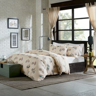 HipStyle Milo Multi Cotton Duck Printed 4-piece Comforter Set