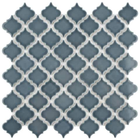 SomerTile 12.375x12.5-inch Antaeus Storm Grey Porcelain Mosaic Floor and Wall Tile (10 tiles/10.7 sqft.)