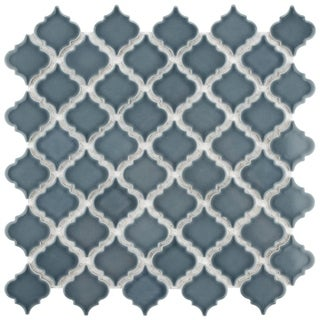 SomerTile 12.375x12.5-inch Antaeus Storm Grey Porcelain Mosaic Floor and Wall Tile (10/Case, 10.7 sqft.)