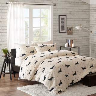 HipStyle Hannah Natural Cotton Duck Printed 4-piece Comforter Set