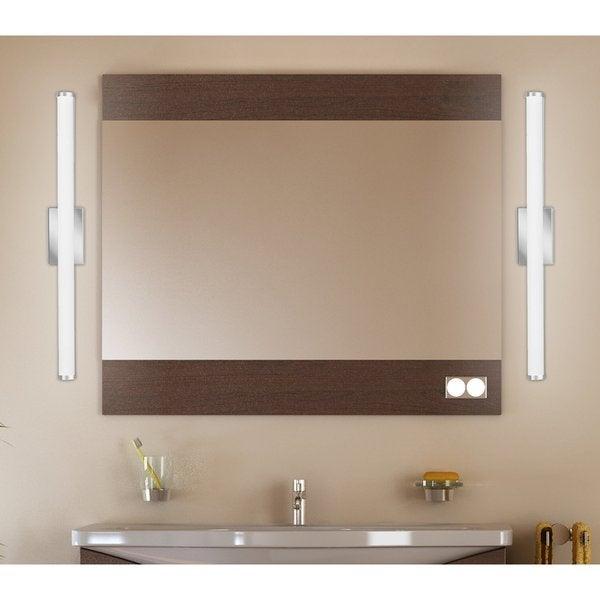 Lithonia Led Bathroom Lighting lithonia lighting contemporary cylinder 3 foot chrome 3k led