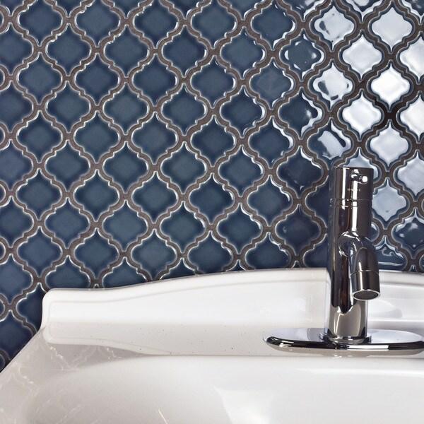 Somertile antaeus denim blue porcelain for 10 inch floor tiles