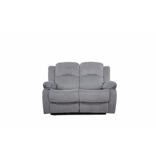 Traditional Brushed Microfiber Recliner Loveseat