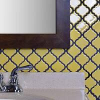 SomerTile 12.375x12.5-inch Antaeus Vintage Yellow Porcelain Mosaic Floor and Wall Tile (10 tiles/10.7 sqft.)