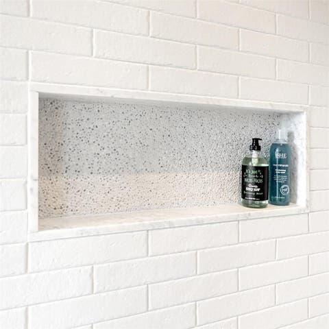 SomerTile 2.375x9.5-inch Brooklyn Brick White Porcelain Floor and Wall Tile (34 tiles/6.04 sqft.)