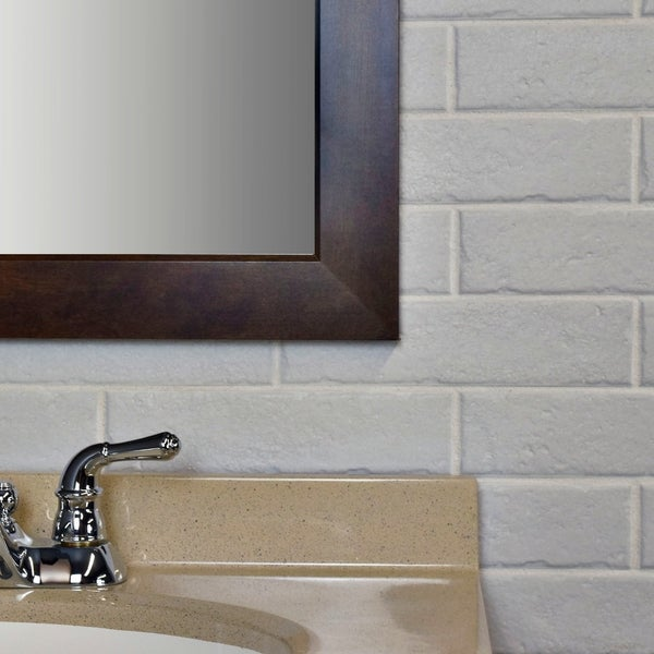 Shop Somertile 2375x95 Inch Brooklyn Brick White Porcelain Floor