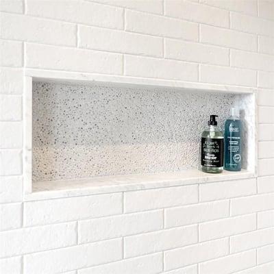 "SomerTile Brooklin Brick White 2.38"" x 9.5"" Porcelain Floor and Wall Tile"