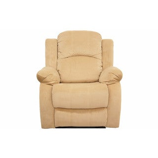 Traditional Brushed Microfiber Recliner Chair
