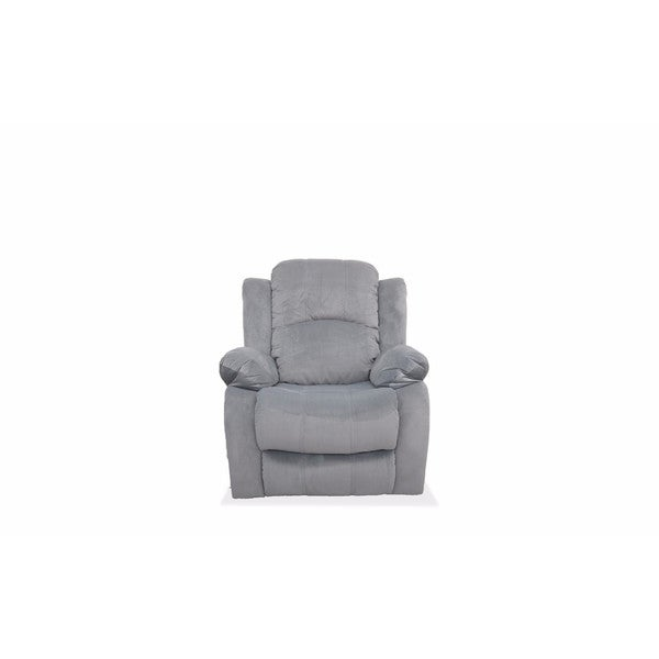 Shop Traditional Brushed Microfiber Recliner Chair Free