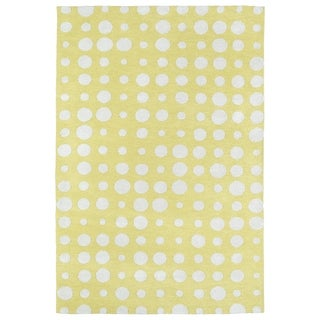 Littles Yellow & Ivory Dots Microfiber Rug (4'0 x 6'0)