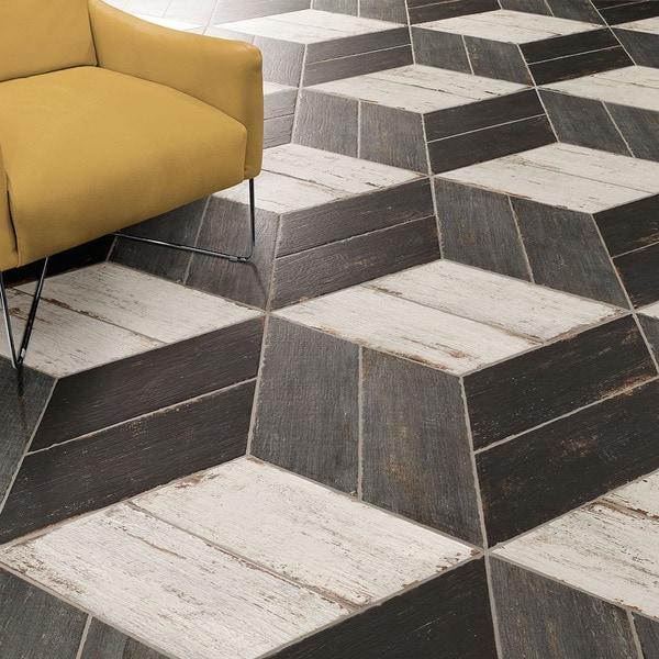 Somertile lambris naveta negre porcelain for 16 inch floor tile