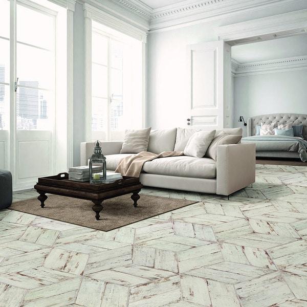 Somertile lambris naveta blanc porcelain for 13 inch ceramic floor tile