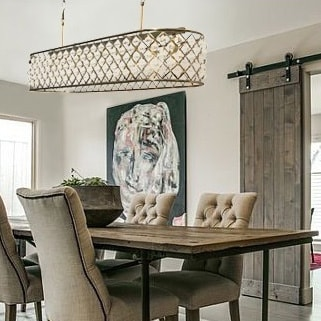 Shop cassiel 40 inch rectangular crystal chandelier antique brass cassiel 40 inch rectangular crystal chandelier antique brass brown aloadofball Image collections