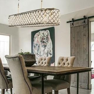 Admirable Shop Cassiel 40 Inch Rectangular Crystal Chandelier Antique Interior Design Ideas Tzicisoteloinfo