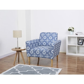Carlsbad Blue Flower Arm Chair