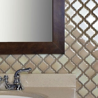 SomerTile 12.375x12.5-inch Antaeus Truffle Porcelain Mosaic Floor and Wall Tile (10/Case, 10.96 sqft.)