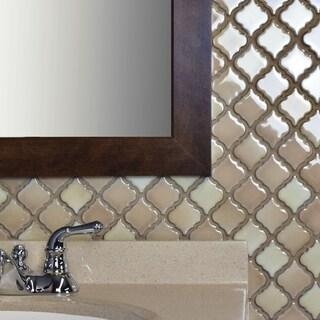 SomerTile 12.375x12.5 Inch Antaeus Truffle Porcelain Mosaic Floor And Wall  Tile (