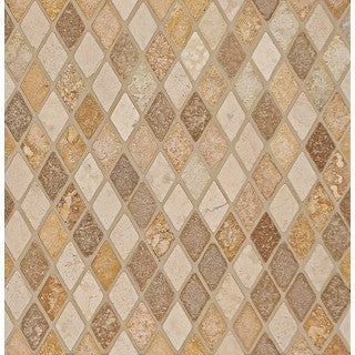 Bedrosians Mosaic Blend Diamond-tumbled Stone Tiles (Pack of 10)