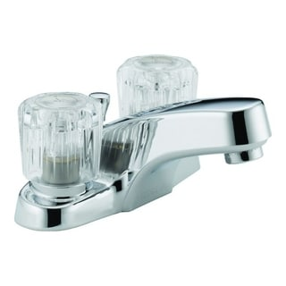 Peerless P299621LF Chrome Two Handle Lavatory Faucet With Acrylic Handles