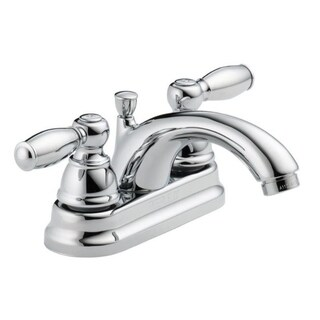 Peerless P299675LF Two Handle Chrome Lavatory Faucet With Pop Up Drain