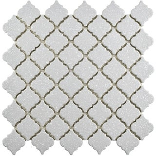 SomerTile 12.375x12.5-inch Antaeus Scholar Grey Porcelain Mosaic Floor and Wall Tile (10/Case, 10.96 sqft.)