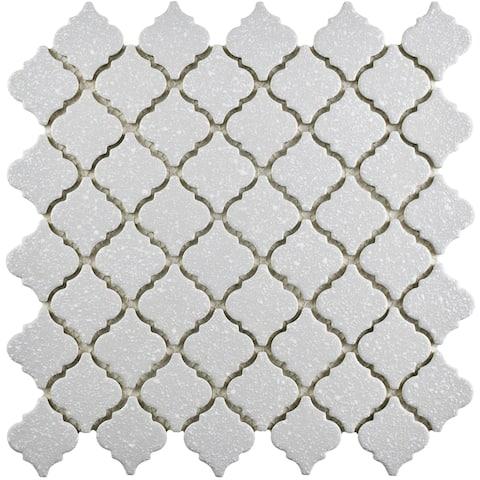 SomerTile 12.375x12.5-inch Antaeus Scholar Grey Porcelain Mosaic Floor and Wall Tile (10 tiles/10.7 sqft.)