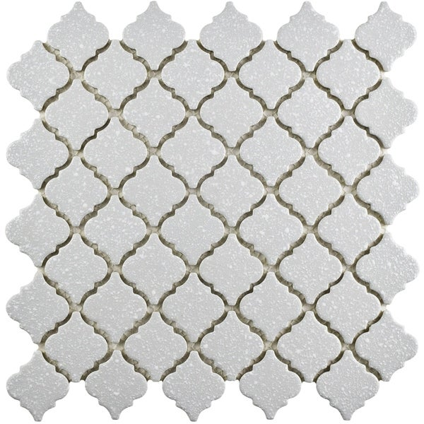 SomerTile 12.375x12.5-inch Antaeus Scholar Grey Porcelain Mosaic Floor and Wall Tile (10 tiles/10.7 sqft.). Opens flyout.