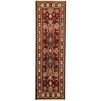 Handmade Herat Oriental Indo Tribal Kazak Wool Runner (India) - 2'1 x 6'6