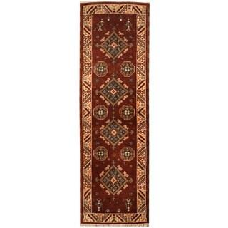 Herat Oriental Indo Hand-knotted Tribal Kazak (2'1 x 6'9)