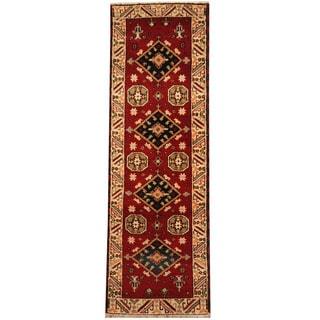 Herat Oriental Indo Hand-knotted Tribal Kazak (2'3 x 6'6)