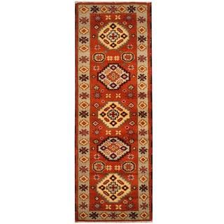 Herat Oriental Indo Hand-knotted Tribal Kazak (2'4 x 6'8)