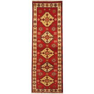 Herat Oriental Indo Hand-knotted Tribal Kazak (2'2 x 6'4)