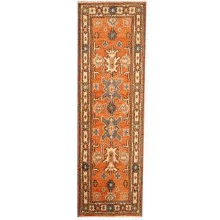 Herat Oriental Indo Hand-knotted Tribal Kazak (2' x 6'7)