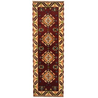 Herat Oriental Indo Hand-knotted Tribal Kazak (2'2 x 6'8)