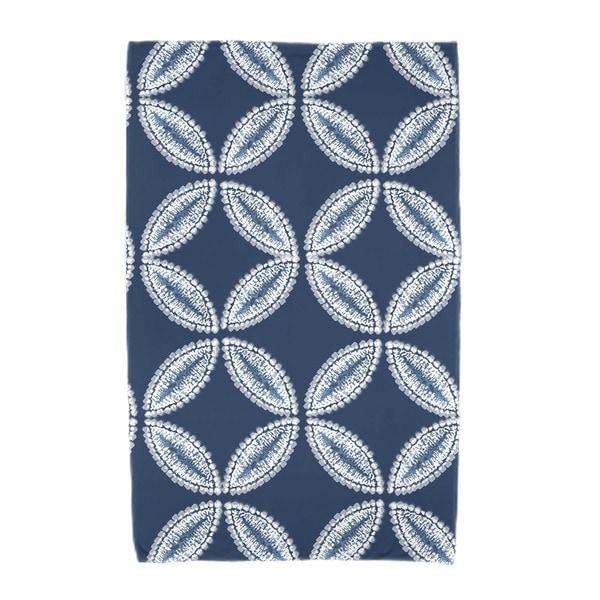 E by Design Tidepool Geometric Print Beach Towel