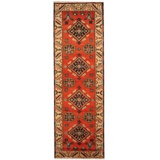Herat Oriental Indo Hand-knotted Tribal Kazak (2'2 x 6'9)