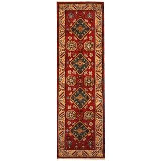 Herat Oriental Indo Hand-knotted Tribal Kazak (2'1 x 6'10)