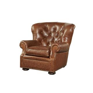 Maxwell Brown Leather Arm Chair