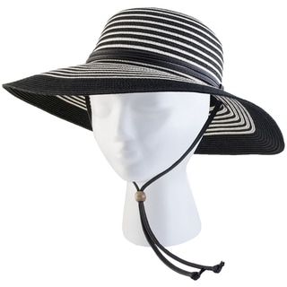 Sloggers 422BW Medium Women's Black & White Wide Brim Hat
