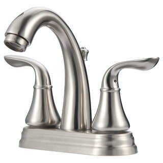 Ultra Faucets UF45723 Brushed Nickel Two Handle Arc Lavatory Faucet