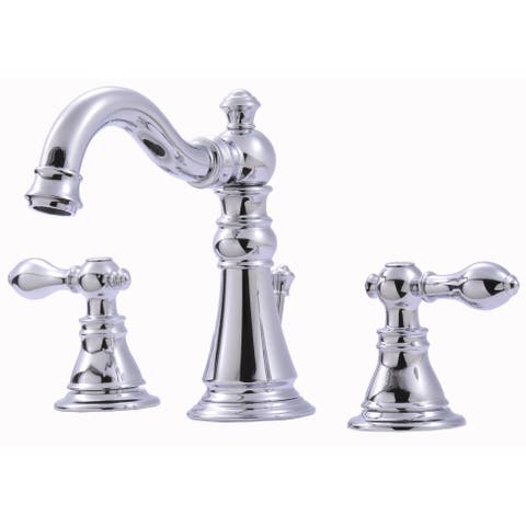 Ultra Faucets UF55110 Two-Handle Chrome Lavatory Faucet With Pop-Up Drain