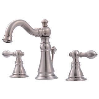 Ultra Faucets UF55113 Two-Handle Brushed Nickel Lavatory Faucet With Pop-Up Drain